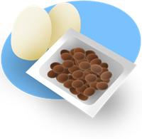 ビタミンDを多く含む鶏卵、サケ、干ししいたけなど、またビタミンKを多く含む納豆や緑黄色野菜